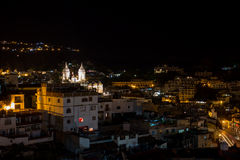 Taxco houses and Church Royalty Free Stock Photos