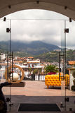 Taxco houses through door Royalty Free Stock Image