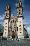 Taxco Kathedrale-Vordere Ansicht Lizenzfreies Stockbild