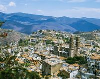 TAXCO, MEXICO,. Taxco is a beautiful city in Mexico built on a hill in Guerrero. It is rich with old and new silver mines, it has narrow streets and hundreds of royalty free stock photography