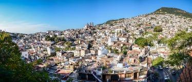 Taxco stad i Mexico Arkivbild