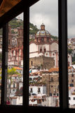 Taxco through a window Royalty Free Stock Image