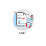 Taxes Accounting Statistics Analysis Finance Icon. Vector Illustration Royalty Free Stock Image