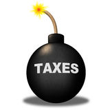 Taxes Alert Shows Duty Safety And Taxpayer Stock Photos