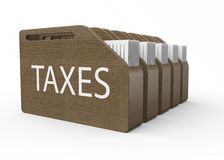 Taxes as concept Stock Image