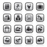 Taxes, business and finance icons Stock Image