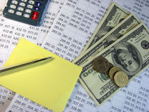 Taxes calculation Royalty Free Stock Images