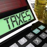 Taxes Calculator Shows Income And Business Stock Photography