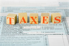Taxes concept Royalty Free Stock Image