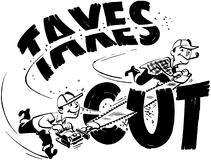 Taxes Cut Stock Image