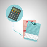 Taxes design. finance icon. Taxation concept. Taxes concept with icon design, vector illustration 10 eps graphic Royalty Free Stock Photos