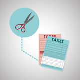 Taxes design. finance icon. Taxation concept. Taxes concept with icon design, vector illustration 10 eps graphic Royalty Free Stock Image