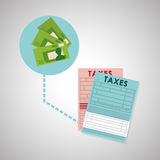 Taxes design. finance icon. Taxation concept. Taxes concept with icon design, vector illustration 10 eps graphic Royalty Free Stock Photo