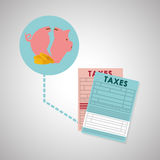 Taxes design. finance icon. Taxation concept. Taxes concept with icon design, vector illustration 10 eps graphic Stock Images