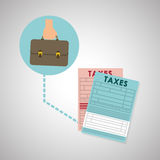 Taxes design. finance icon. Taxation concept. Taxes concept with icon design, vector illustration 10 eps graphic Stock Image