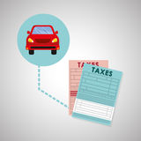Taxes design. finance icon. Taxation concept Royalty Free Stock Photography
