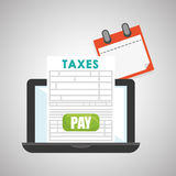 Taxes design. finance icon. Taxation concept Royalty Free Stock Images