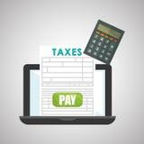 Taxes design. finance icon. Taxation concept. Taxes concept with icon design, vector illustration 10 eps graphic Stock Photos