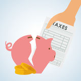 Taxes design. finance icon. Taxation concept. Taxes concept with icon design, vector illustration 10 eps graphic Stock Photography