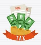 Taxes design Stock Image