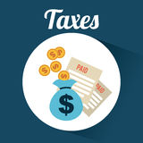 Taxes design. Taxes graphic design , vector illustration Stock Photography