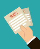 Taxes design. Taxes graphic design , vector illustration Royalty Free Stock Image