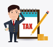 Taxes design. Royalty Free Stock Photos