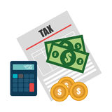 Taxes design. Taxes design over white background, vector illustration Stock Photo