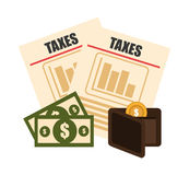 Taxes design. Taxes design over white background, vector illustration Stock Photography