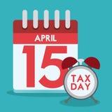 Taxes design, vector illustration. Taxes design over blue background, vector illustration royalty free illustration