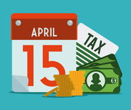 Taxes design, vector illustration. Royalty Free Stock Images