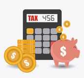 Taxes design, vector illustration. Stock Images