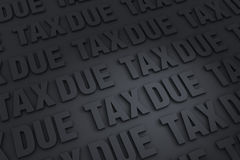 Taxes Due Background Royalty Free Stock Photos