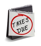 Taxes Due Stock Images