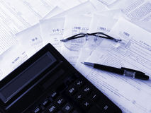 Taxes forms Royalty Free Stock Images
