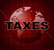 Taxes Graph Means Duty Statistical And Infograph Royalty Free Stock Photography
