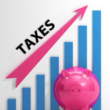 Taxes Graph Shows Increase In Taxes And Tariffs Royalty Free Stock Photos