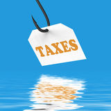 Taxes On Hook Displays Taxation Or Legal Fees Royalty Free Stock Image