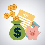 Taxes icon. Design,  illustration eps10 graphic Stock Photos