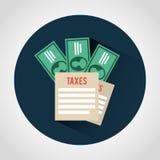 Taxes icon Stock Photo