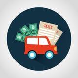 Taxes icon Stock Photography