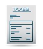 Taxes icon Royalty Free Stock Photography
