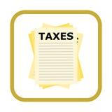 Taxes icon. Simple  icon Stock Photo