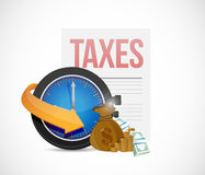 Taxes icons concept illustration design Stock Image