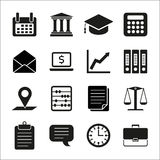 Taxes, law, finance concept flat icons Royalty Free Stock Images