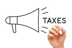 Taxes Megaphone Concept Stock Photo