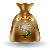 Taxes Money Bag Royalty Free Stock Images
