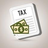 Taxes money bills pay. Illustration eps 10 Royalty Free Stock Photos