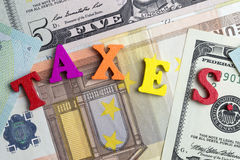 Taxes and money. Royalty Free Stock Photography