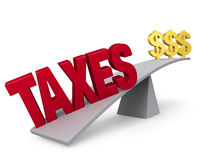 Taxes Outweigh Savings Royalty Free Stock Images